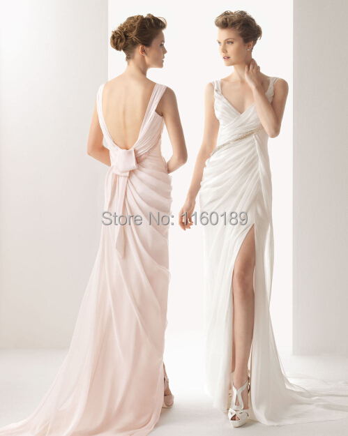 Free shipping open back beading sequined wedding dress for How to get a free wedding dress