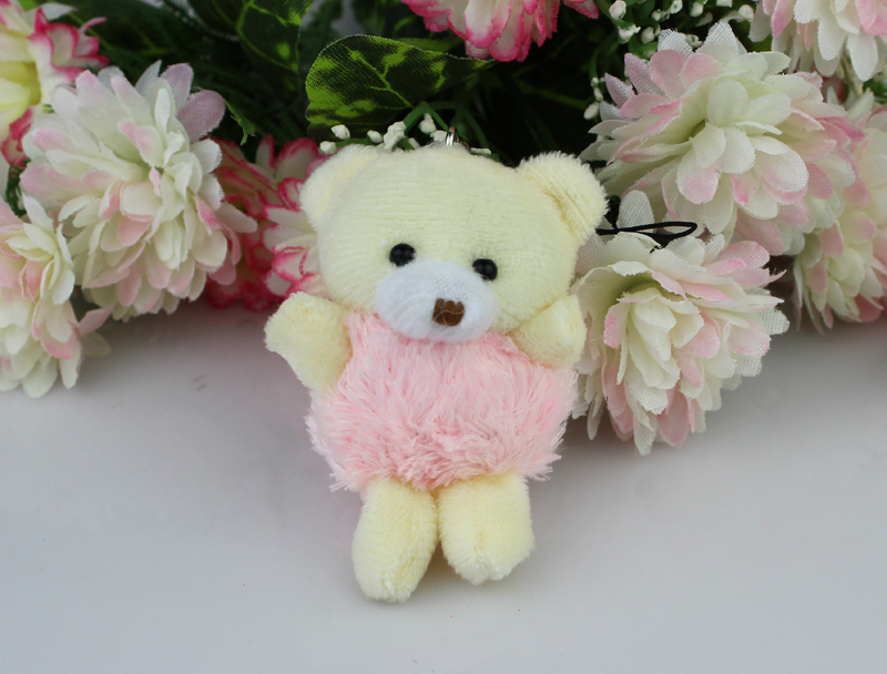 Free shipping H-6cm  Teddy Bear With Tassel Dress ,plush toy cartoon bouquet doll Flower Packing/Christmas Gifts  40pcs/lot<br><br>Aliexpress