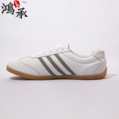 stripe soft white head layer cowhide leather goosegrass bottom breathable practise martial arts tai chi shoes shoes<br><br>Aliexpress