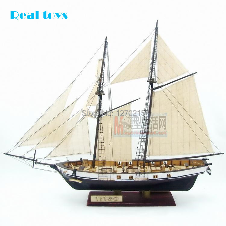 Free shipping Assembly Model kits Classical wooden sailing boat model HARVEY1847 scale wooden model(China (Mainland))