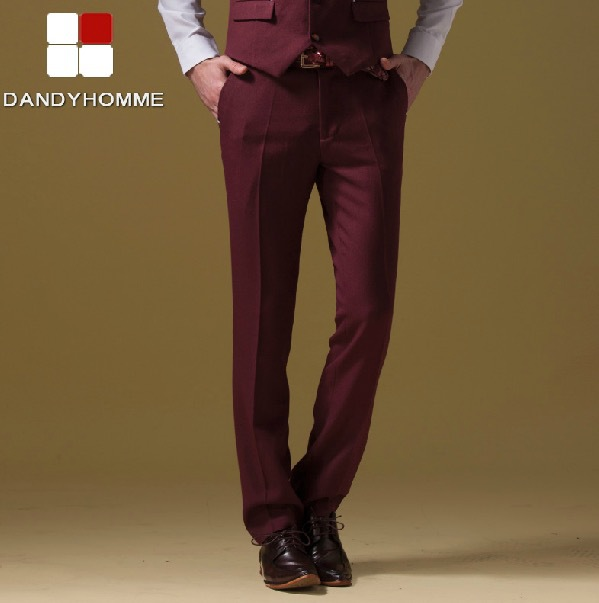 DANDY HOMME HIGH QUALITY 2015 men slim casual gentleman business wedding groom 4 pure colors suits long pants spring autumn red Одежда и ак�е��уары<br><br><br>Aliexpress