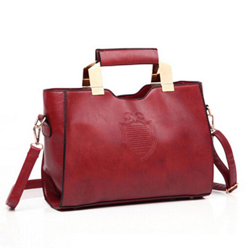 Bolsa Feminina Designer Handbags High Quality Iron Crown Shield Woman PU Leather Casual Tote Bags Shoulder Crossbody Handbag