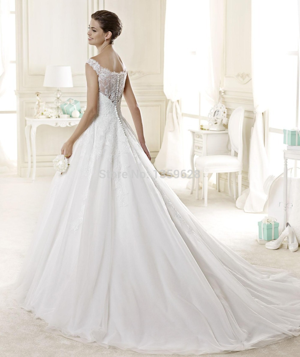 Wedding Dress Lace Italian : Italian lace wedding dresses fashionable princess style off shoulder