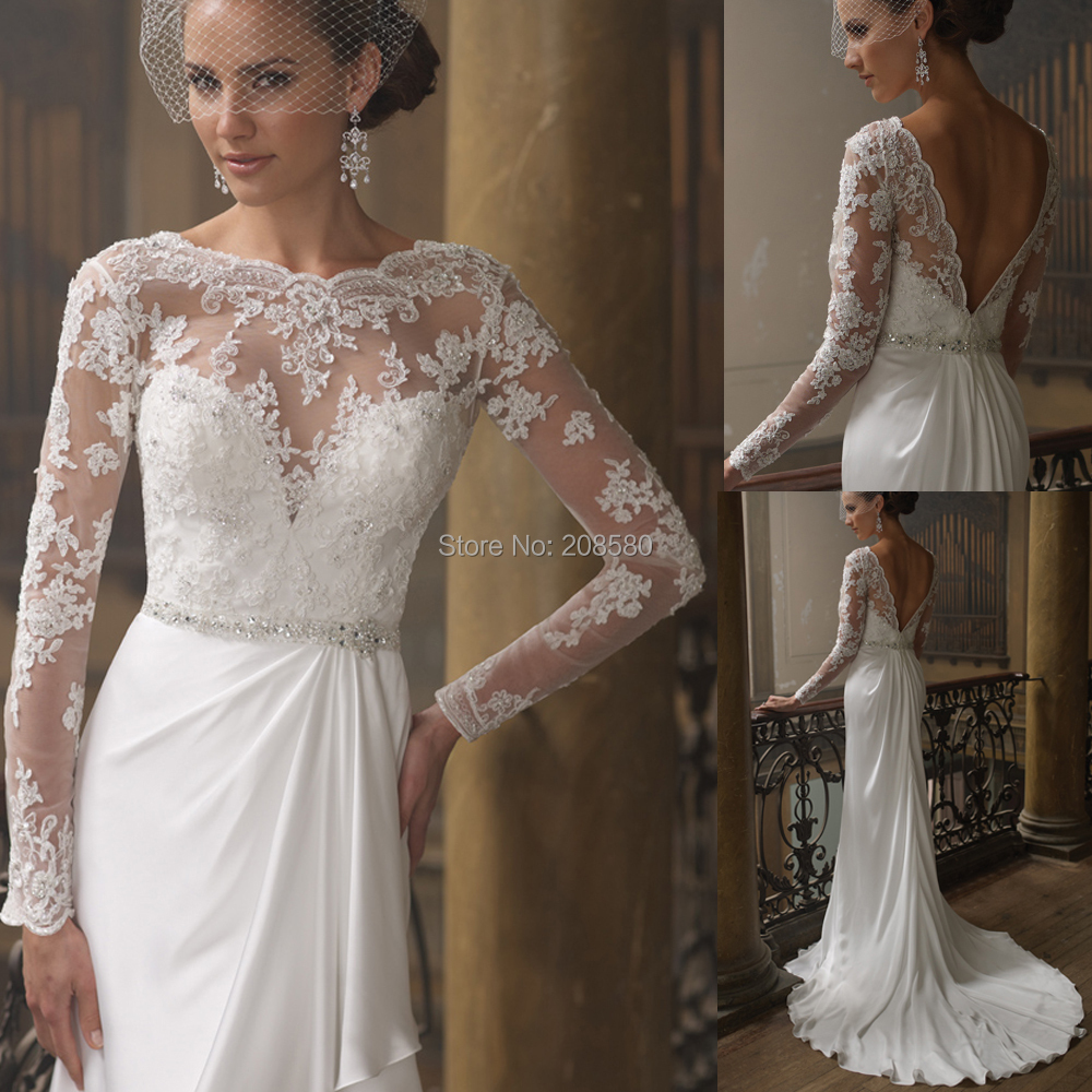 Casual long sleeve lace wedding dresses ivo hoogveld for Long sleeve casual wedding dresses