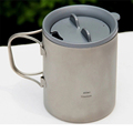Keith Hot Sale 450ml Double wall Titanium Mugs Insulated Cups Copos For Outdoor Camping Travel Mug