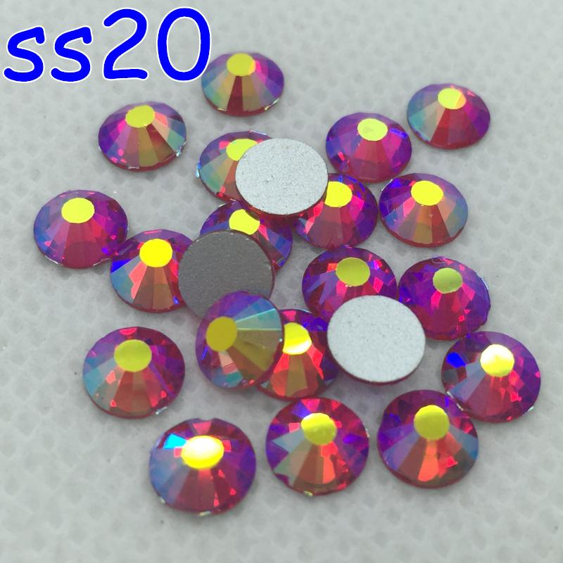 Glass Machine Cut 1440pcs SS20 Non Hotfix Lt Siam Red AB Flatback Rhinestones 3D Nail art crystal decoration<br><br>Aliexpress