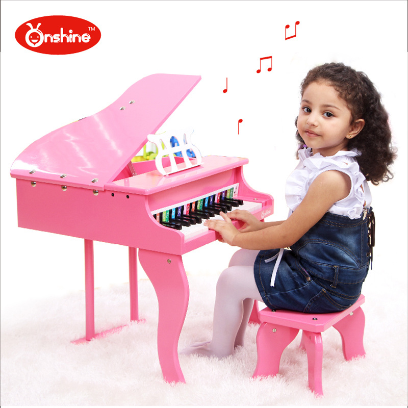 30 keyboards Beautiful Music Toy Baby Toy Wooden Grand Piano Musical Toys Instrument for Children Kids Educational Electric Toy(China (Mainland))