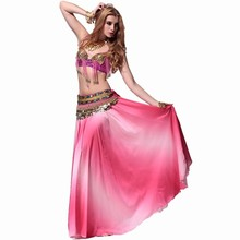 Quality belly dance costume skirt set advanced dance clothes set bra expansion skirt belly chain