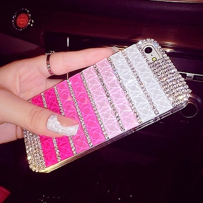 For iPhone 4 4s 5 5s Diamond Customize Cases DIY Bling Crystal Iridescent Shinny Rhinestone Jelly Jewelry PC Luxury Fashion Case(China (Mainland))