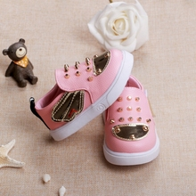Baby Girl Boy Shoes Gold Rivet Angel Pink Red Black Fashion Sneakers Waterproof  Soft Light Newborn Walkers Insole 11.8- 13.8CM(China (Mainland))