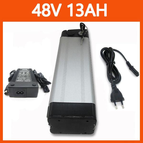 Top Discharge 48V 13AH lithium Battery 48V ebike battery Use for samsung 26H Cell with 54.6V 2A charger(China (Mainland))