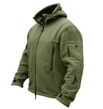 US Military Man Fleece Tactical Jacket Outdoor Thermal Breathable Sport Hunting Polar Hooded Coat Outerwear Army Clothes()