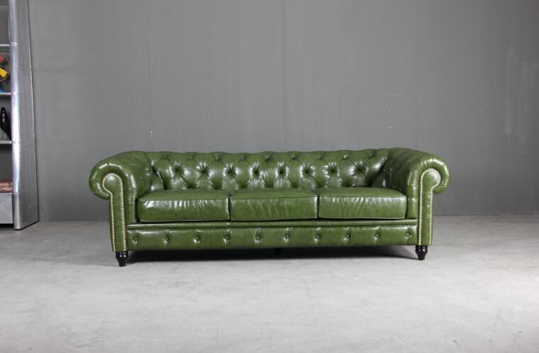 Italian antique furniture promotion shop for promotional - Sofa piel vintage ...