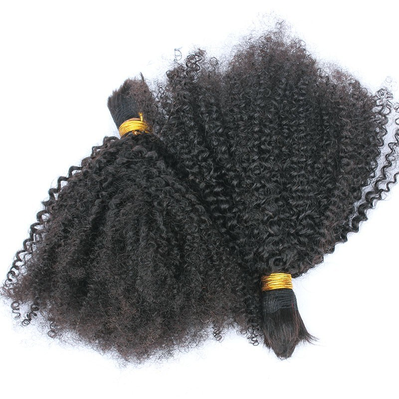 Afro Kinky Human Hair For Braiding Crochet Braids Mongolian Afro Kinky Curly Virgin Human Hair For Braiding Bulk No Attachment