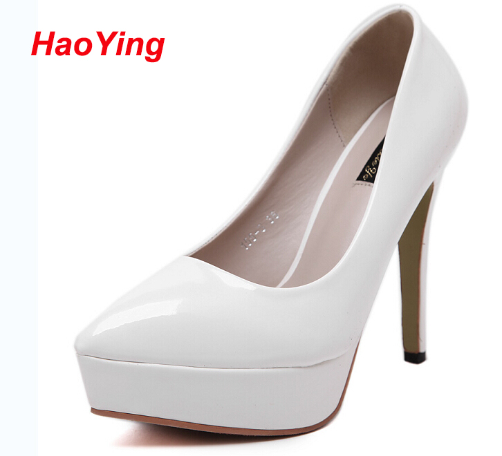 Women pumps high heels fashion pointed toe women thin heels pumps shoes sexy high heels pumps women white wedding shoes D286