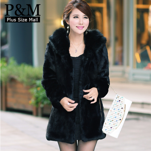 Images of Faux Fur Black Jacket - Reikian