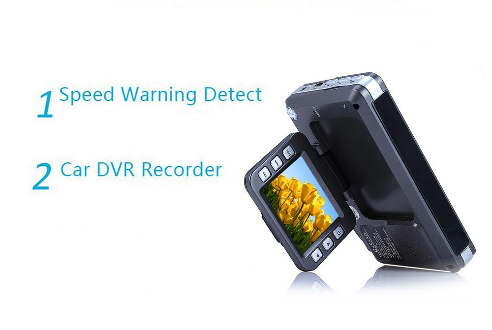 New Car DVR Camera Radar Detector Full HD 2 inch LCD Russian English Voice with Laser Logger 140 Degree Wide Angle Add SD Card