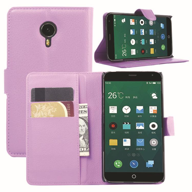 MEIZU MX4 Case, Litchi PU Leather Flip Case Card Slots Stand Cover MEIZU MX 4 Wallet Case
