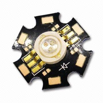 3W RGB high power led with heatsink,with 6pin