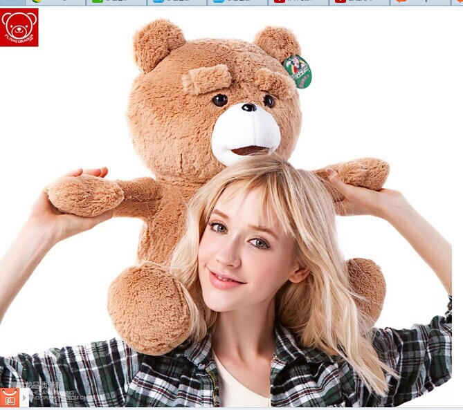 60cm Teddy bear plush toy ted bear doll gift w4870(China (Mainland))