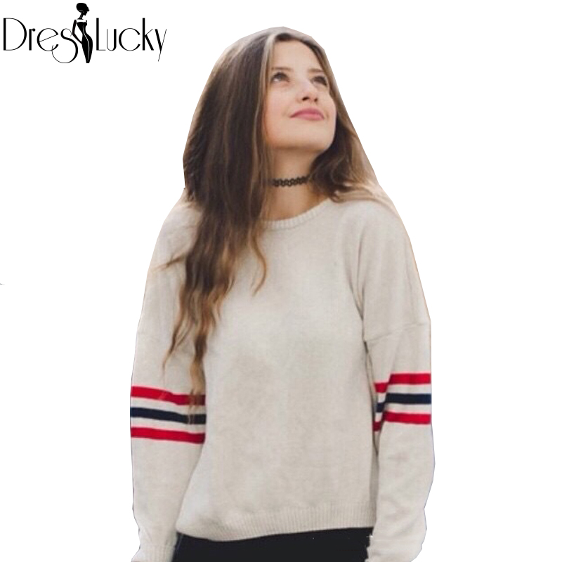 Autumn Fashion Loose women sweaters and pullovers 2016 casual striped knitted sweaters tops long sleeve jumper Free Size Clothes(China (Mainland))