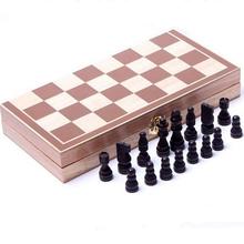 Voyage magnétique jeu d'échecs en bois bois pliable carte(China (Mainland))