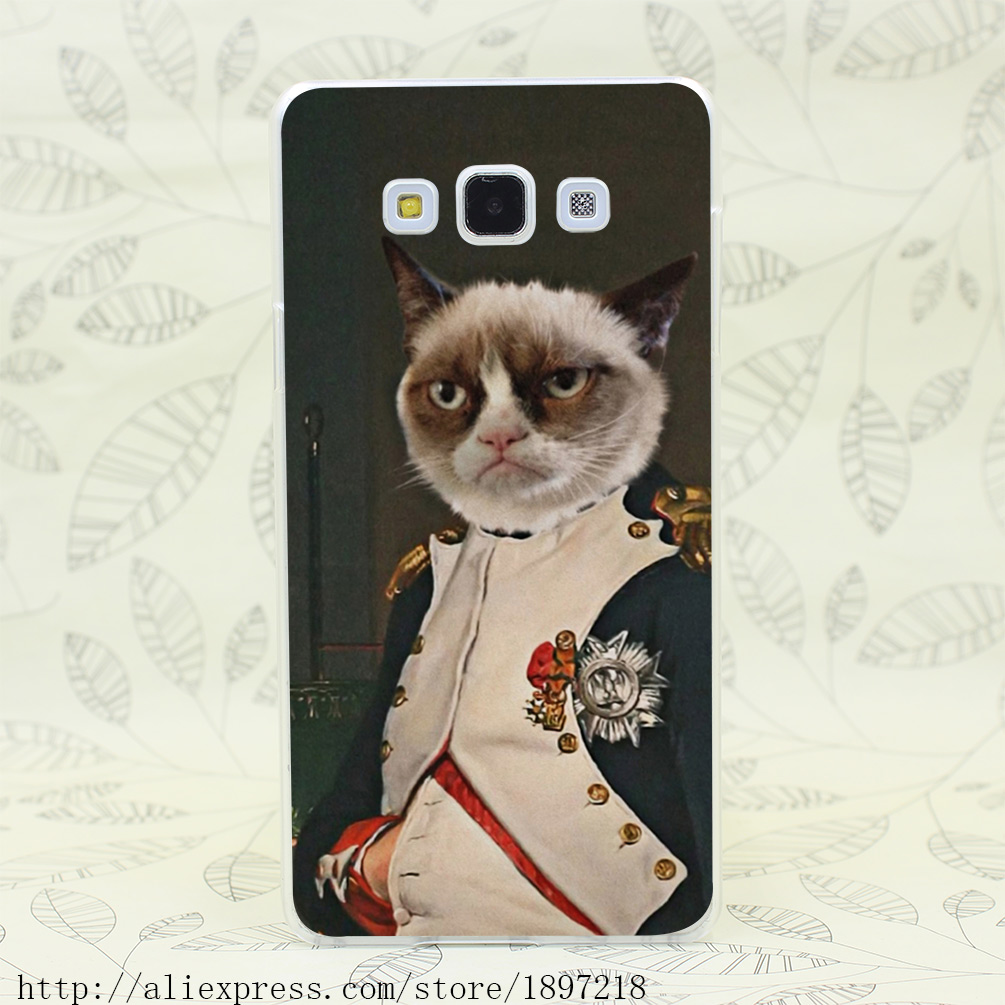 2483T Grumpy Cat Classic Hard Cover Case for Galaxy A3 A5 7 8 J5 7 Note 2 3 4 5 Grand 2 Prrime(China (Mainland))