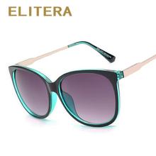 ELITERA 2016 Mulheres Óculos De Sol Da Moda Rodada Senhoras Retro Do Vintage Da Marca de Luxo Designer Oversized Óculos de Sol Do Esporte do  Feminino Maré