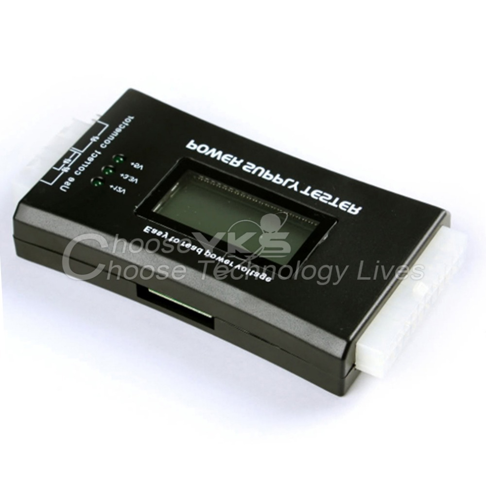 1Pcs Free Shipping Computer PC Power Supply Tester Checker 20/24 pin SATA HDD ATX BTX Meter LCD(China (Mainland))