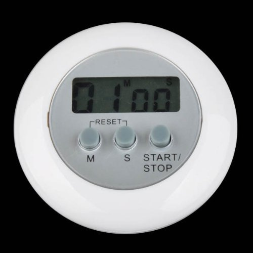 Digital LCD Timer Stop Watch Kitchen Cooking Countdown Clock Alarm White the timer in the kitchen(China (Mainland))