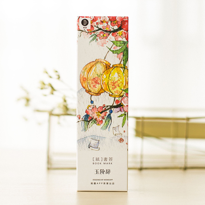 "The ""jade order speech"" exquisite bookmarks retro hand-painted paper boxed student stationery Chinese wind special offer(China (Mainland))"