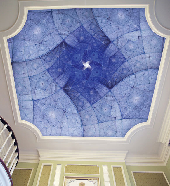 Free shipping large living room bedroom ceiling lobby for Ceiling mural in smokers lounge