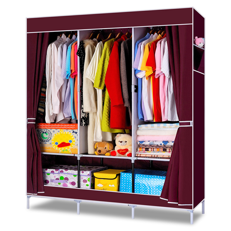 Simple Bedroom Clothes Wardrobe Combination Non-woven Fabric Large Capacity Bedroom Furniture Storage Cabinet Portable Wardrob(China (Mainland))