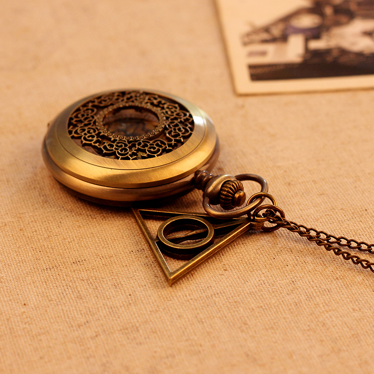 Lovers Gift Big Size Hollow out Case Vintage Antique Pocket Watches 78cm Chain Necklace Pendant Watch