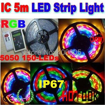 Светодиодная лента OEM 5 5050 RGB 12V IP67 30LED 6803 ic 133 luminaria CE RoHS 10rolls PN-22SL36WRGBIC клаксон oem 12v 3 22 air raid