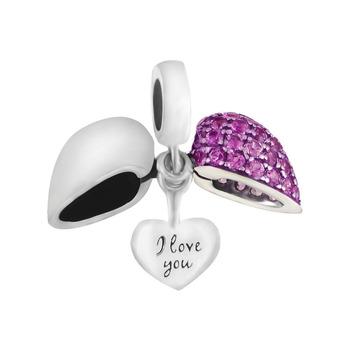 2016 new fashion heart charm genuine 925 sterling silver jewelry fits brand bracelets GW fine jewelry S050