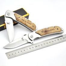 browning knife 338 big CAMPING HUNTING knife SURVIVAL POCKET KNIFE FOLDING BLADE knives 21 5cm Multifunctional