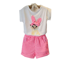 Girls clothing set baby girl s clothes sets cartoon cat children kids T shirt shorts the