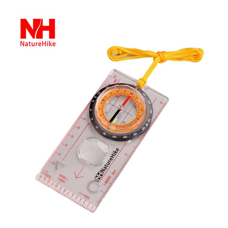 Naturehike Outdoor Camping Baseplate Compass Navigation Tool Directional Cross-country Race Hiking Mini Compass(China (Mainland))