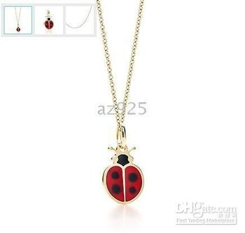 pendant plated with gold, back to childwood N775 silver Beetle