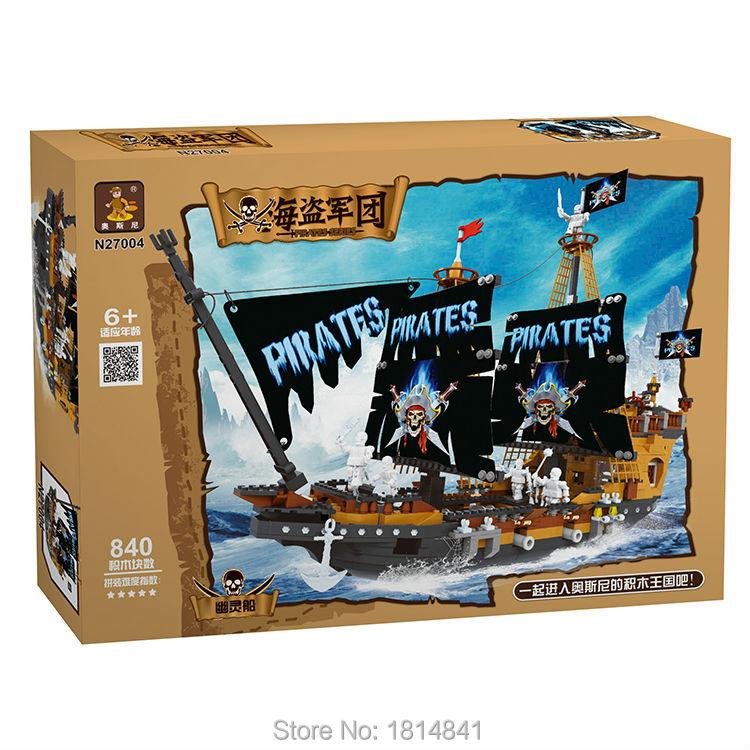 Ausini 840 pcs Pirates The Black Pearl Constructing Blocks Assembling Blocks Mannequin Constructing Kits Minifigure Appropriate with Legoe