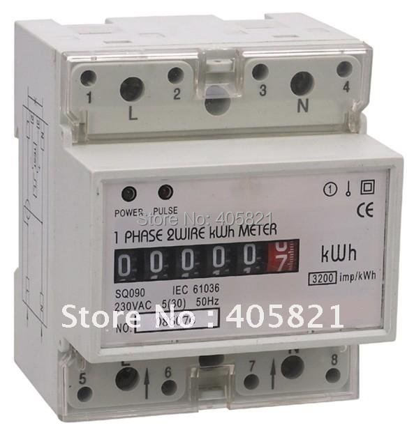 Kilowatt Hour Meter : V a hz single phase din rail kilowatt hour kwh