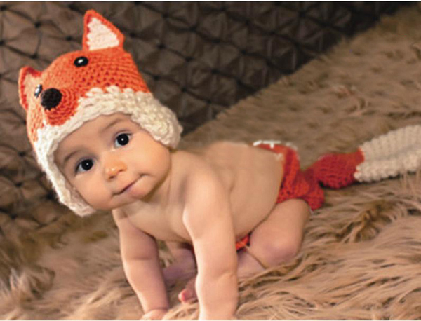 Handmade Crochet Baby Fox Hat and Shorts Set Newborn Infant Photography Props Beanie Cap and Diaper Cover Outfit 1set H007(China (Mainland))