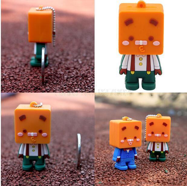 faster cartoon 5pcs/lot box man cartoon USB Flash Memory Stick usb flash drive 4GB 8GB 16GB S6(China (Mainland))