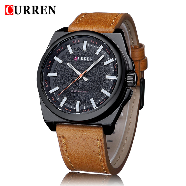 New Curren Quartz Men Watches Fashion Casual Luxury Leather Watch Elegant Sports Out Door Wristwatch Wholesale relojio Hot Sale(China (Mainland))