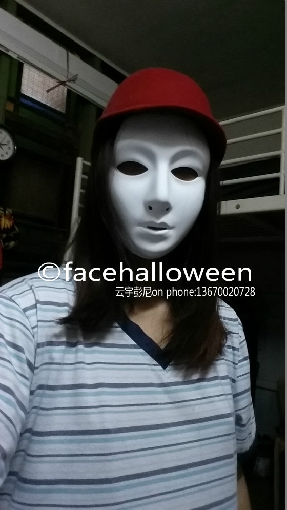 Lot 200 Jabbawockeez Female Blank Face Mask Small-Size Women Hip-Hop White Party / Masquerade Halloween carnival - facehalloween store
