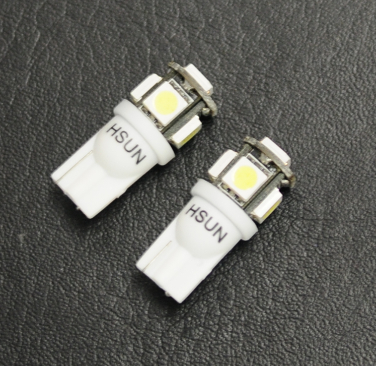 100%Brand factory cheap wholesale Light bulbs Xenon White T10 Wedge 5SMD 5050 LED 192 168 194 W5W 2825 FREE SHIPPING(China (Mainland))