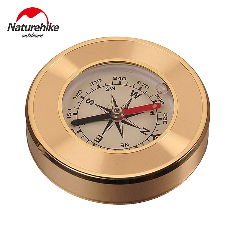 NatureHike Mini Military Camping Marching Lensatic Compass Magnifier Gold Wild Survival Navigation Noctilucent High Quality(China (Mainland))