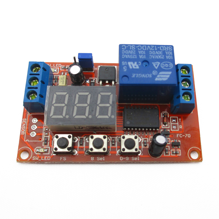 Digital mobilizing power delay relay module / cycle / high and low trigger 12V Multifunction(China (Mainland))