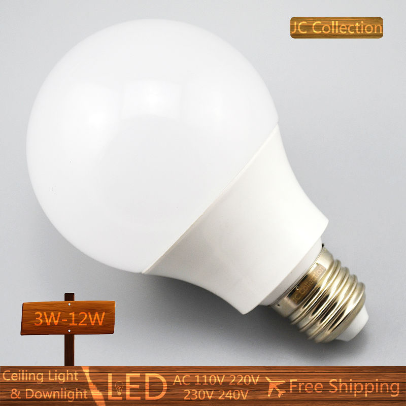2X E27 B22 Led Light Bulb 3W 5W 7W 9W 12W LED Bulb Lamp 220v 110V Cold white Warm White Led Spotlight free shipping Wholesale(China (Mainland))